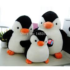 Stuffed Wind Up Christmas Penguin plush custom penguin toy