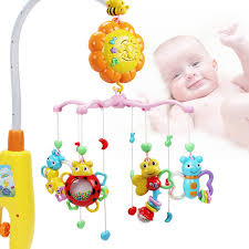 baby hot sell bed ring toys, wind up baby bed ring with music