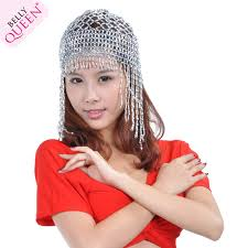 Fashionable design ladies belly dance hat,sequin and coin belly dance headpiece