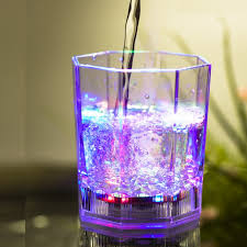LED Drinkware & Light Up Glassware Flashing LED Drink Coasters Color Changing For Party Bars