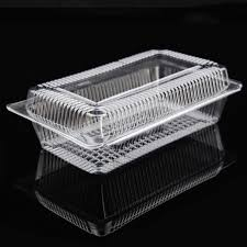 Fashion Design PVC clamshell pack plastic packaging for baked goods