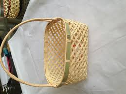Easter Bamboo Basket Bamboo Egg Baskets Round Bamboo Basket