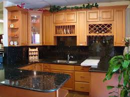 solid wood kitchen furniture with granite counterto