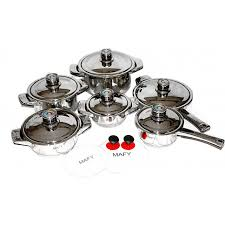 16pcs stainless steel cooking appliances